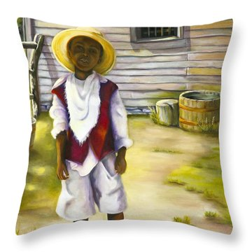 Throw Pillow featuring the painting Way Out Of No Way by Marlene Book