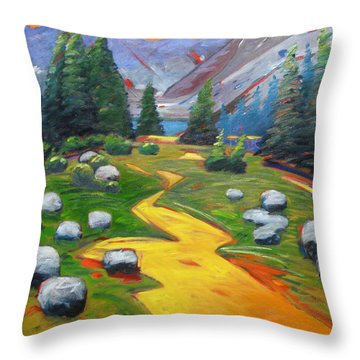 Way To The Lake Throw Pillow
