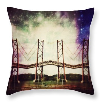 Way To The Stars Throw Pillow by Jorge Ferreira