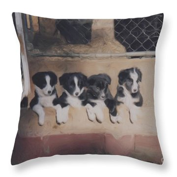 Way Too Cute Throw Pillow by Smilin Eyes  Treasures
