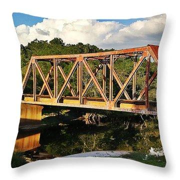 Waycross Trestle Bridge Throw Pillow