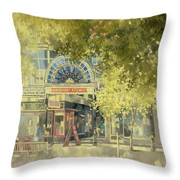 Wayfarer's Arcade Throw Pillow