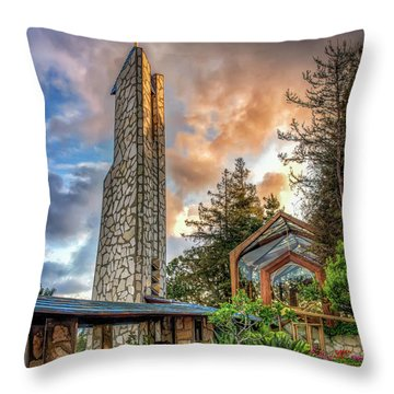 Throw Pillow featuring the photograph Wayfarer's Chapel by Endre Balogh