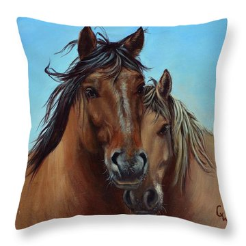 Waylon And Jimmy Throw Pillow