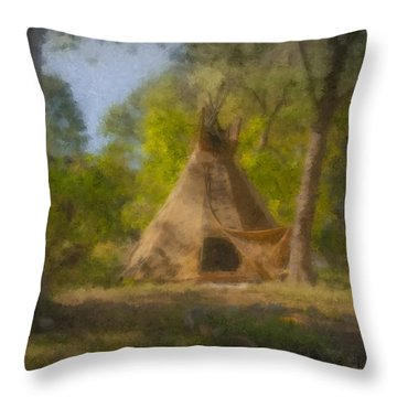 Wayne And Karen's Teepee Throw Pillow