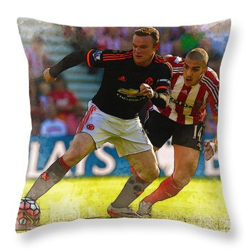 Wayne Rooney Is Marshalled Throw Pillow