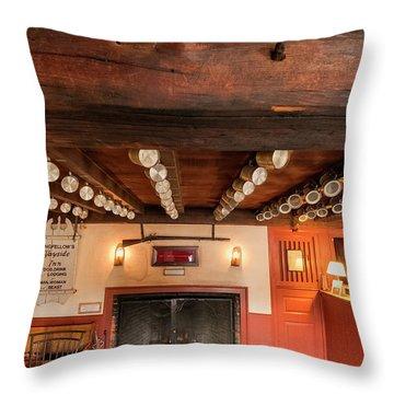 Throw Pillow featuring the photograph Wayside Inn Bar by Tom Singleton