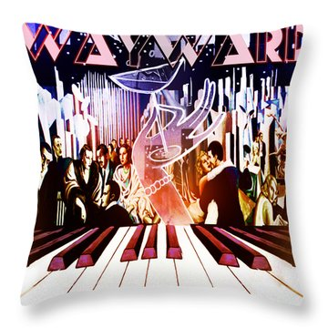 Throw Pillow featuring the painting Wayward by John Jr Gholson