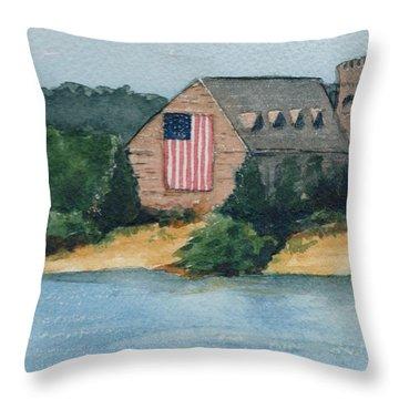 Throw Pillow featuring the painting Wb Stone Church  by Lynn Babineau