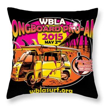 Wbla 2015 For Promo Items Throw Pillow
