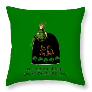 We All Irish This Beautiful Day Throw Pillow by Asok Mukhopadhyay