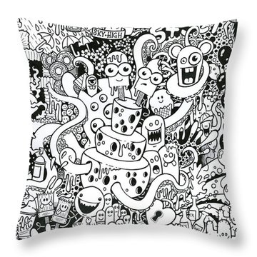 We All Love Cheese Throw Pillow