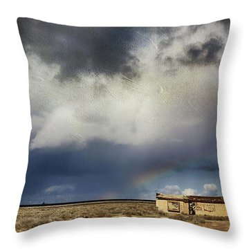 Throw Pillow featuring the photograph We All Need A Little Hope by Laurie Search