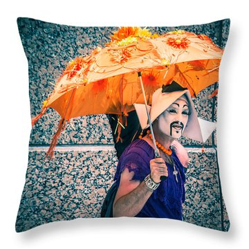 We All Wear Masks Throw Pillow by Off The Beaten Path Photography - Andrew Alexander