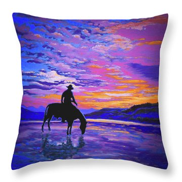 We And Still Waters Throw Pillow