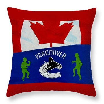 We Are All Canucks Throw Pillow