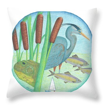 We Are All Connected Throw Pillow