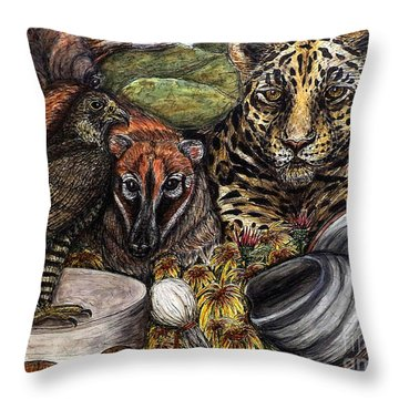We Are All Endangered Throw Pillow