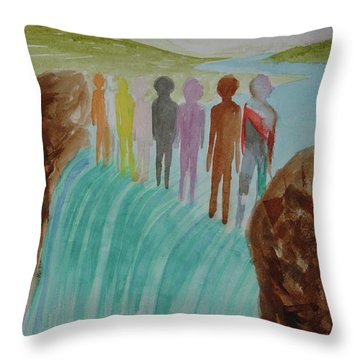 Throw Pillow featuring the painting We Are All The Same 1.2 by Tim Mullaney