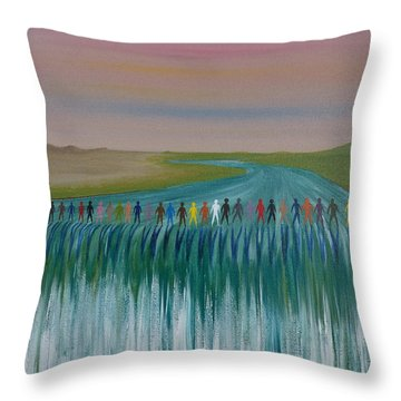 We Are All The Same 1.3 Throw Pillow by Tim Mullaney