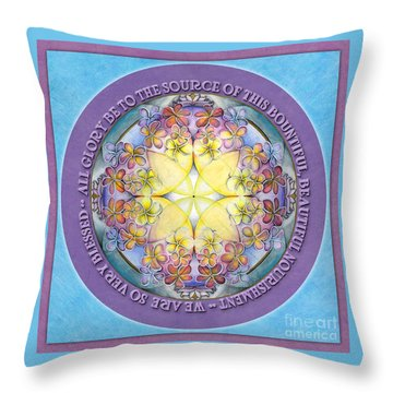 We Are Blessed Mandala Prayer Throw Pillow