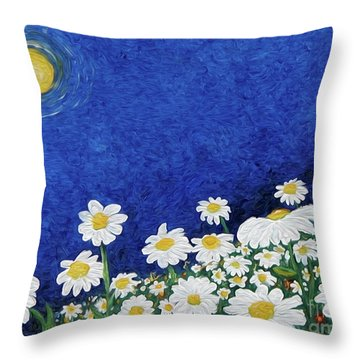We Are Daisies Throw Pillow
