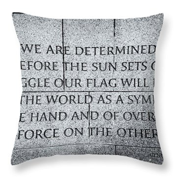 We Are Determined...... Throw Pillow