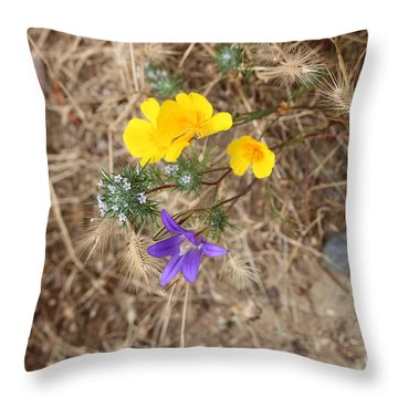 Throw Pillow featuring the photograph We Are Family by Marie Neder