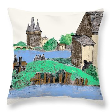 We Are Gone Fishing, Eh? Throw Pillow