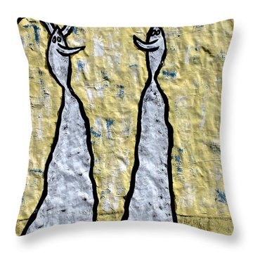 We Are Much Alike You And I Throw Pillow by Mario Perron