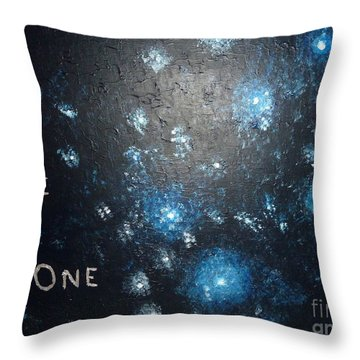 We Are One Throw Pillow by Piercarla Garusi