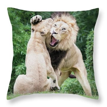 We Are Only Playing Oil Throw Pillow