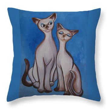We Are Siamese Throw Pillow