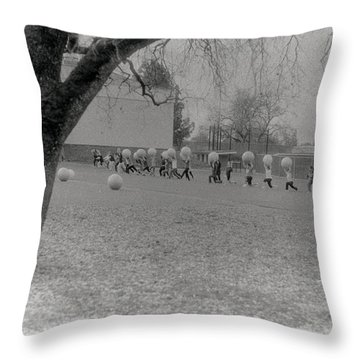 We Are The World Funny Photo Throw Pillow