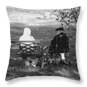 Throw Pillow featuring the photograph We Are Young by Jose Rojas