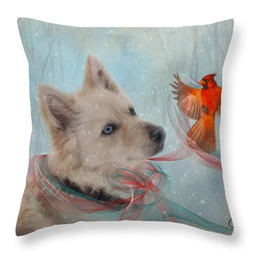 We Can All Get Along Throw Pillow by Colleen Taylor