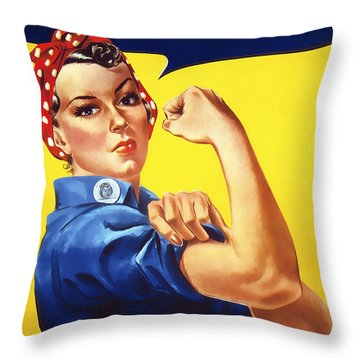 We Can Do It  1942 Throw Pillow