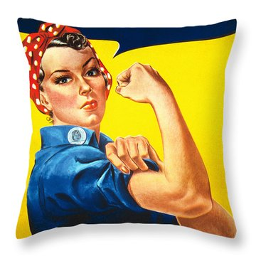 We Can Do It Rosie The Riveter Poster Throw Pillow