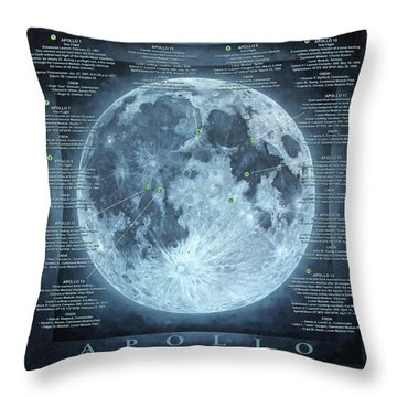 We Choose To Go To The Moon Throw Pillow