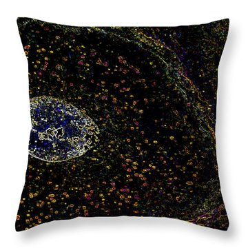 We Come Spinning Throw Pillow by Rhonda McDougall