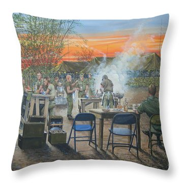 We Did It First Forrest Throw Pillow