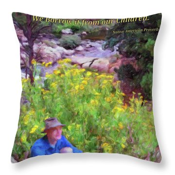 We Do Not Inherit The Earth - V2 Throw Pillow