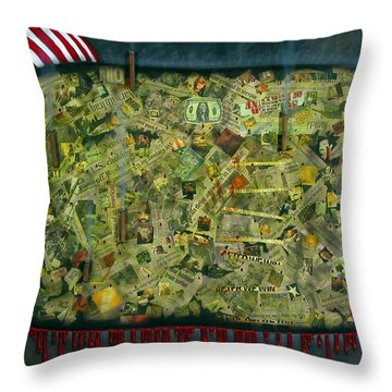 We Don't See The Whole Picture Throw Pillow by James W Johnson