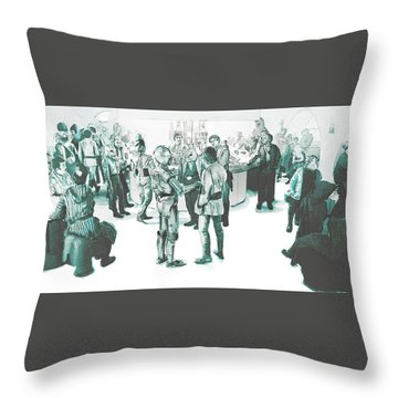 We Don't Serve Their Kind Here Throw Pillow