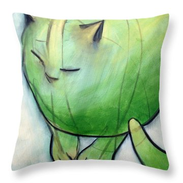 We Dream In Green 1 Throw Pillow