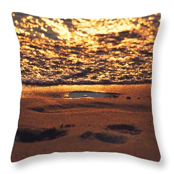 We Each Leave Our Mark, Momentarily Throw Pillow