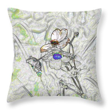 We Fade To Grey 4 Part 3 Throw Pillow