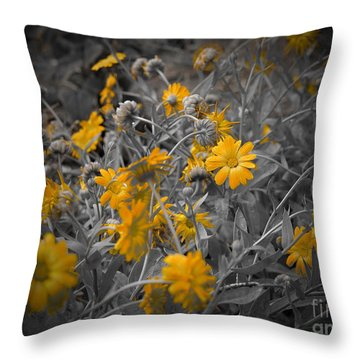 We Fade To Grey Three Throw Pillow
