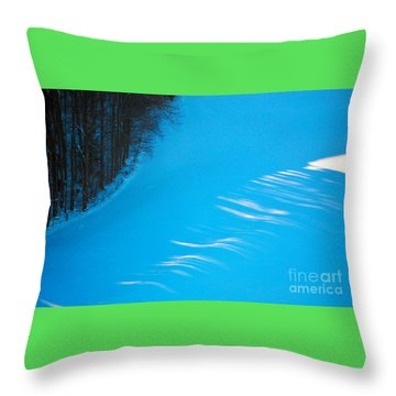Throw Pillow featuring the photograph We Got The Blues - Winter In Switzerland by Susanne Van Hulst
