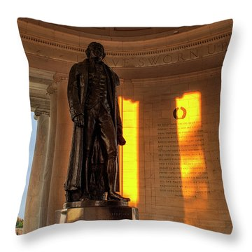 Throw Pillow featuring the photograph We Hold These Truths by Andrew Soundarajan